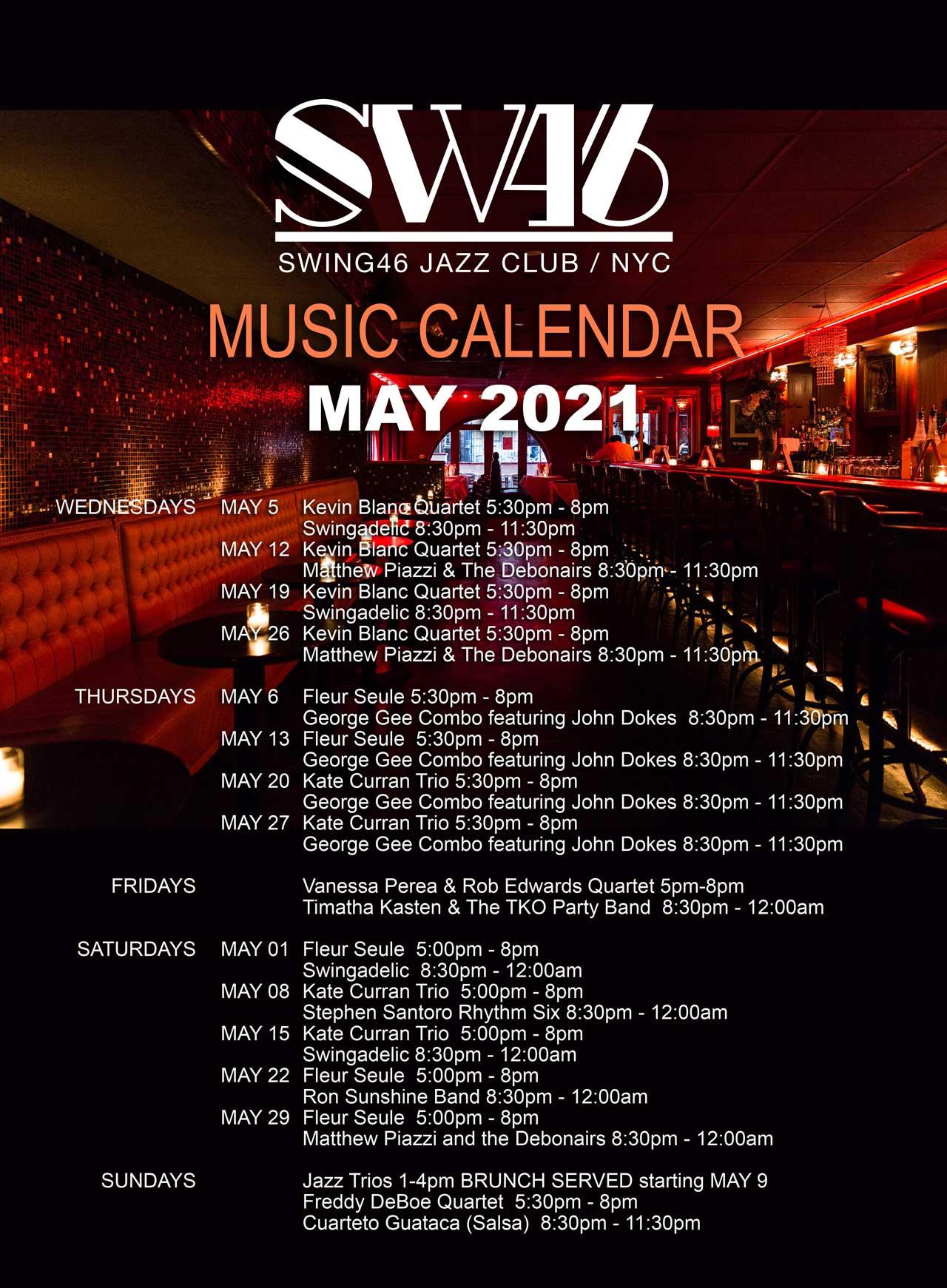 Music Calendar Poster