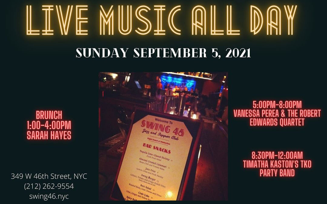 LINE UP TODAY | SUN SEPT 5